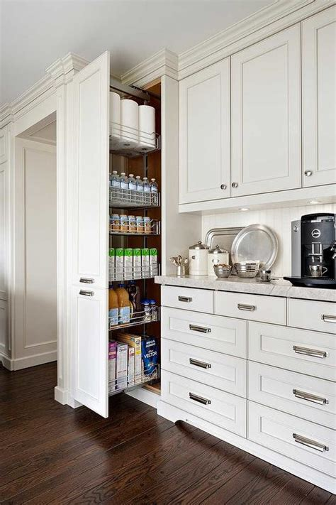 Floor To Ceiling Kitchen Cabinets Floor To Ceiling Pull Out Pantry Cabinet Transitional Kitchen