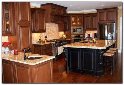 Countertops For Oak Cabinets by Granite Countertops With Oak Cabinets Manicinthecity