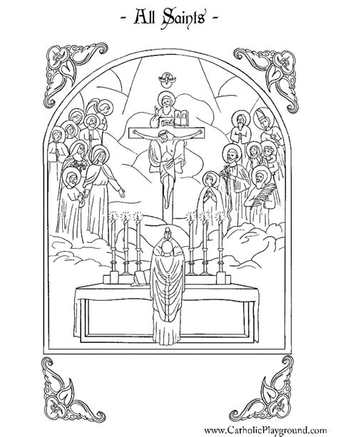 coloring page of catholic mass all saints coloring page catholic playground young