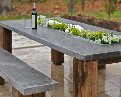 Concrete Patio Table Outdoor D 233 Cor Trend 26 Concrete Furniture Pieces For Your Backyard Digsdigs