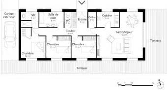 plan de plain pied 110 m 178 avec 3 chambres ooreka