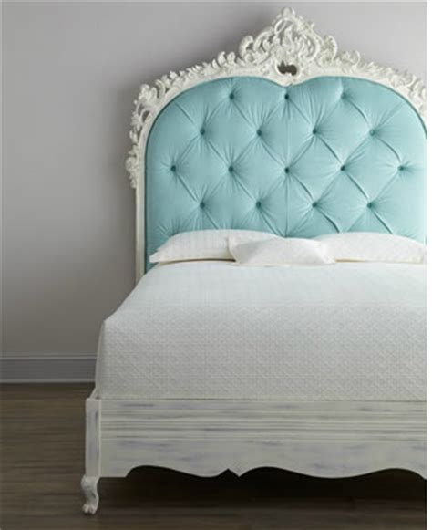 mg decor parisian blue tufted headboard perf for small