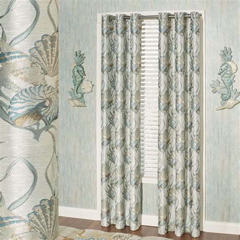 coastal curtains coastal dream seashell comforter bedding