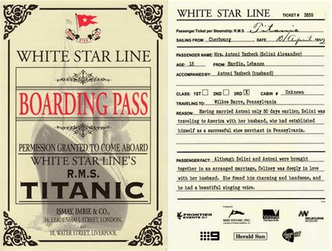 printable titanic boarding pass template school librarians more weekly displays titanic