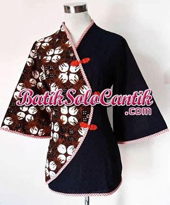 Blouse Kombinasi Lengan Terompet model blouse batik kerja kantor 02 baju kerja batik