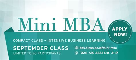 Free Mini Mba Course by Mini Mba September Class