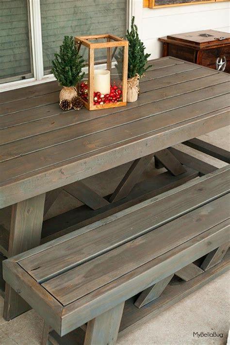 diy patio tableshanty  chic outdoor table plans diy