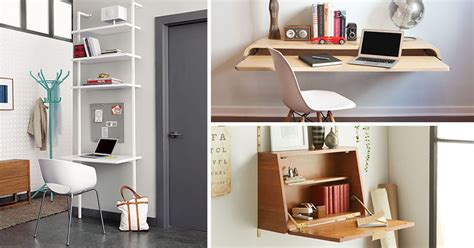 Small Desk Space Ideas 16 Wall Desk Ideas That Are Great For Small Spaces Contemporist