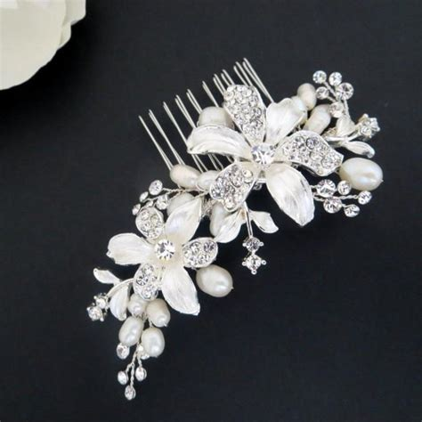 Wedding Flower Hair Comb freshwater pearl wedding hair comb flower hair comb