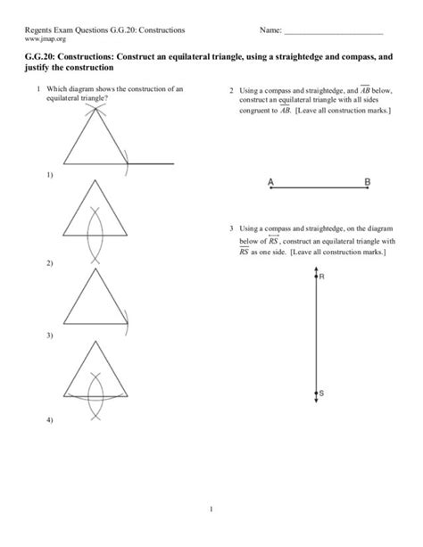 Construction Worksheets Geometry by Geometry Construction Worksheet Stinksnthings