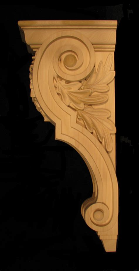 Custom Corbels Custom Oak Leaf Acorn Corbel Large Corbels Plinths