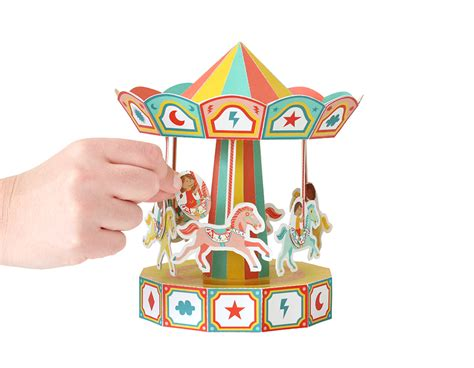 Toys With Paper - carousel movable paper pukaca