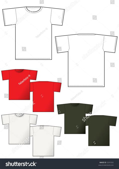 front layout video t shirt back and front layout for presentation vector