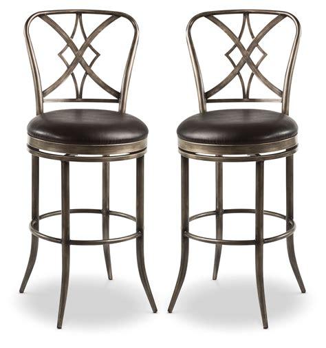 swivel counter height bar stools jaqueline counter height swivel stool set of 2 the brick