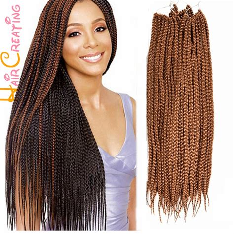crochet micro braids for sale free shipping 24 inch 3s box braid hair crochet braids
