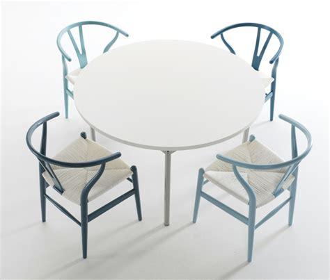 blue wishbone chairs decor