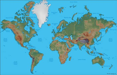 physical map of the world world map a clickable map of world countries