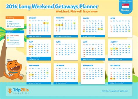2015 monthly planner printable singapore 7 long weekends in singapore in 2016 bonus planner