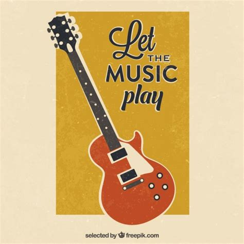Imagenes Retro Guitar Pro | retro guitar poster vector free download