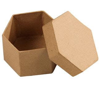 cajas en fomi para nias cajas de cart 243 n para decorar hexagonal los 10 tienda hermex