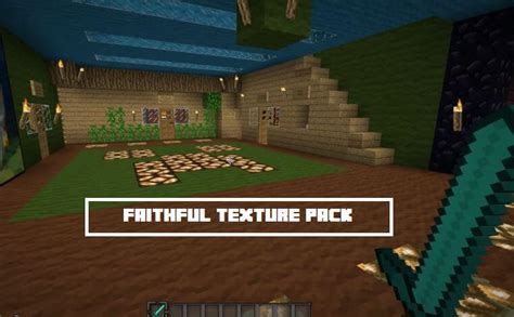 minecraft faithful texture pack 1 7 9 faithful 32x 64x texture resource pack 1 10 2 1 9 4 1 8
