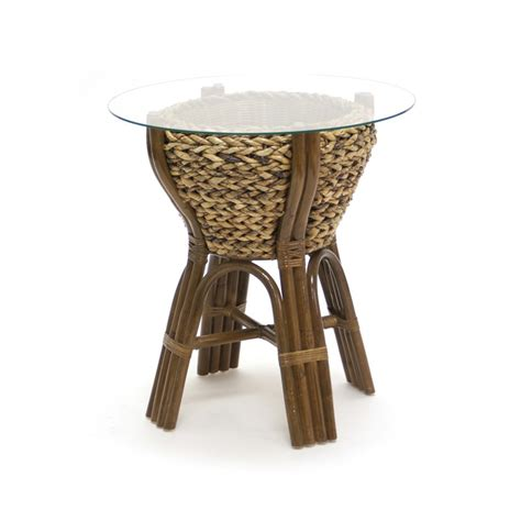 rattan side tables living room woven end table collection by sea winds trading