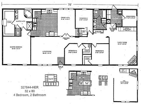 Home Remodeling Double Wide Mobile Home Floor Plans 2 Bedroom House Plans One Level Doublewide