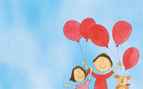 imagenes de niños jugando con globos dos ni 241 os y globos rojos imagenes wallpapers dibujos