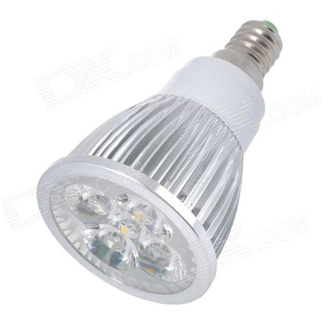 4000k Led Light Bulb E14 5w 450lm 4000k 5 Led Warm White Light Bulb Silver Ac 85 265v Free Shipping Dealextreme