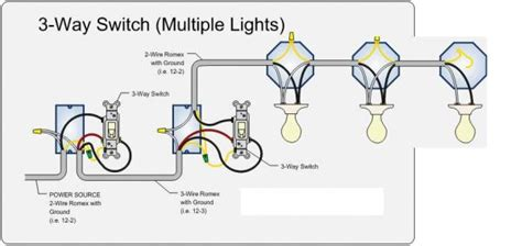 3 way led lights wiring diagram for three way switch with multiple lights