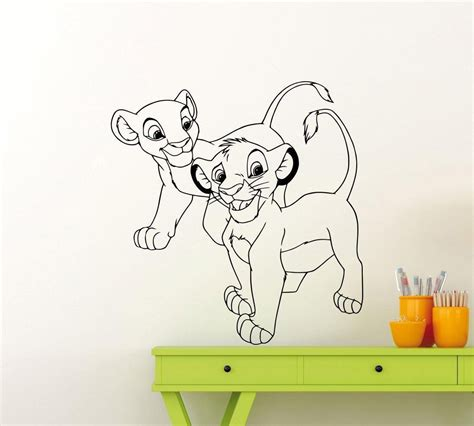 Online Store Lion King Wall Decal Simba Nala Custom Vinyl King Wall Decals For Nursery