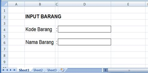membuat form input di excel 2013 gambar 1
