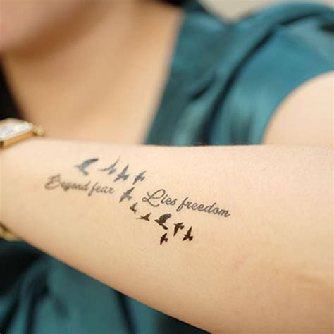 tattoo quotes for freedom new potatoo temporary tattoo beyond fear lies freedom