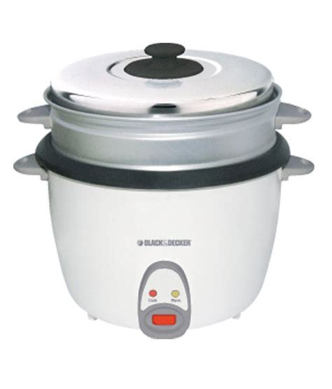 Black Decker Automatic Rice Cooker 1 8 Liter 700 Watt Rc 1860 B1 black decker 2 8 l rc 2800 rice cooker white price in india buy black decker 2 8 l rc 2800
