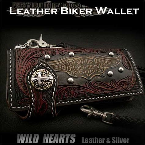 Handmade Biker Wallet - genuine cowhide handcrafted custom handmade motorcycle