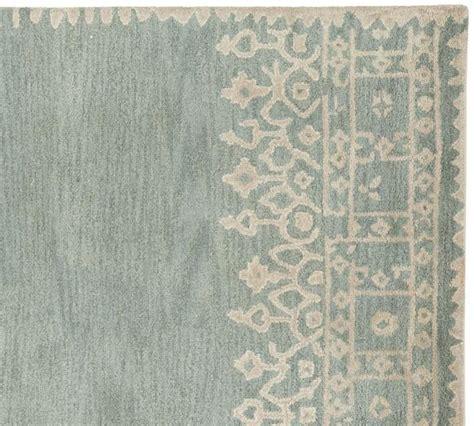 pottery barn desa rug reviews pottery barn 8x10 desa bordered porcelain blue woolen area rugs carpet area rugs