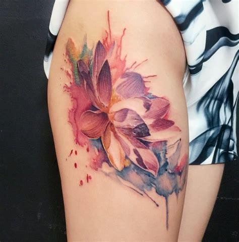 watercolor tattoo lotus flower 53 best lotus tattoos designs