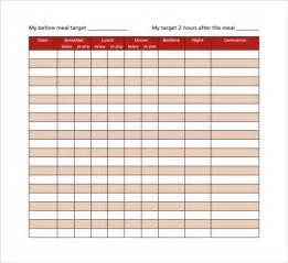 Diabetes Log Template by Sle Blood Sugar Log Template 9 Free Documents In Pdf