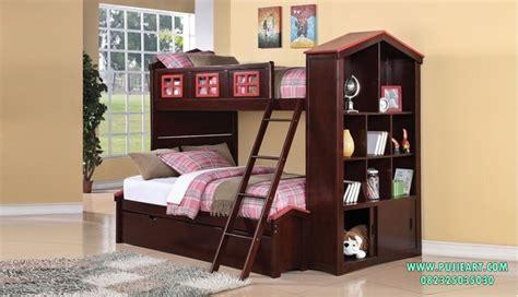 Tempat Tidur Kayu 2 Tingkat tempat tidur tingkat kayu ranjang tingkat kayu tempat