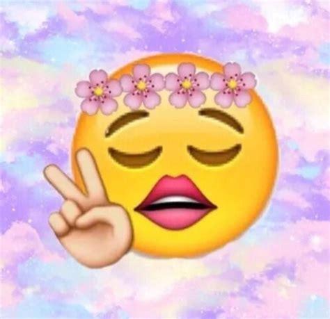 cute wallpaper of emoji cute emoji flowers funny girly image 3556574 by