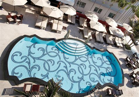 Decorating A Livingroom mosaic glass pool in victor hotel miami beach florida