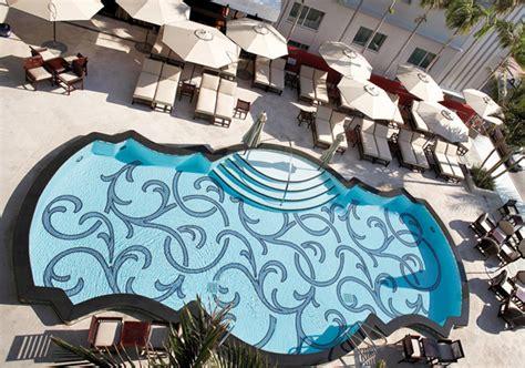 Livingroom Decorating mosaic glass pool in victor hotel miami beach florida