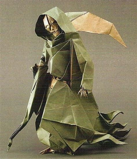 Special Origami - how to fold an origami grim reaper