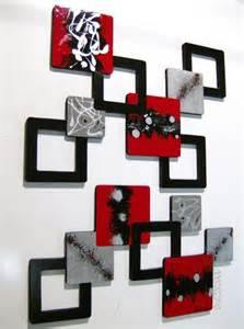 And Black Wall Decor by 2pc Black Gray Geometric Squares Wall Sculpture