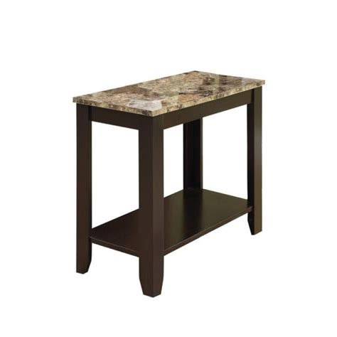 Marble End Tables Living Room by Pemberly Row End Table In Marble And Cappuccino Pr 452418