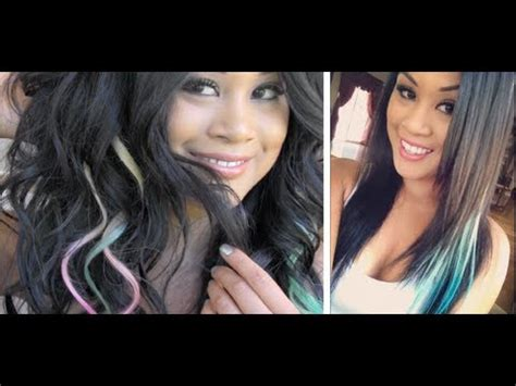 colored hair extensions clip in tutorial clip in colored hair extensions
