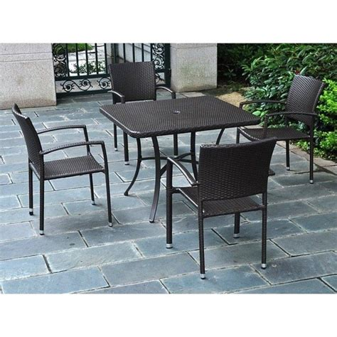 4 Chair Patio Set by Resin Wicker Aluminum Patio Dining Chair Set Of 4 4210