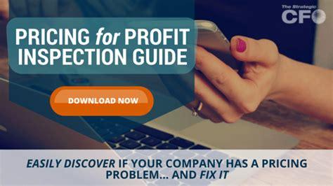Pricing For Profit margin compression the strategic cfo
