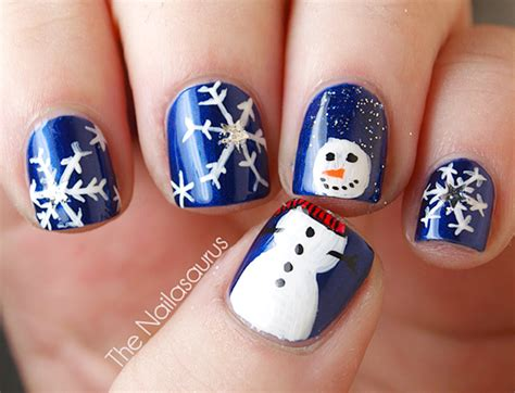 snowflake pattern nails let it snow on your nails 20 snowflake nail arts