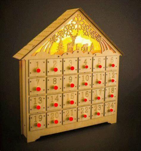 Handmade Wooden Advent Calendar - decor handmade wooden advent calendar calandar